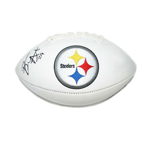 Brian Allen Signed Pittsburgh Steelers White Logo Football