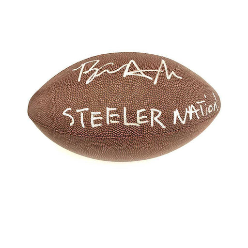 "Brian Allen Signed Replica Football with ""Steeler Nation"""