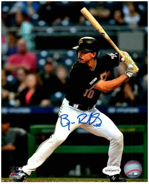 Bryan Reynolds Signed Batting in Black 8x10 Photo