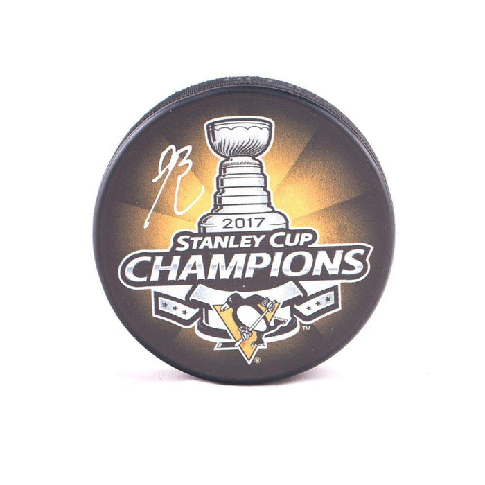 Bryan Rust Autographed 2017 Stanley Cup Logo Puck