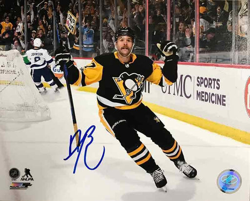 Bryan Rust Autographed Double Fist Pump Vs. Toronto 16x20 Photo