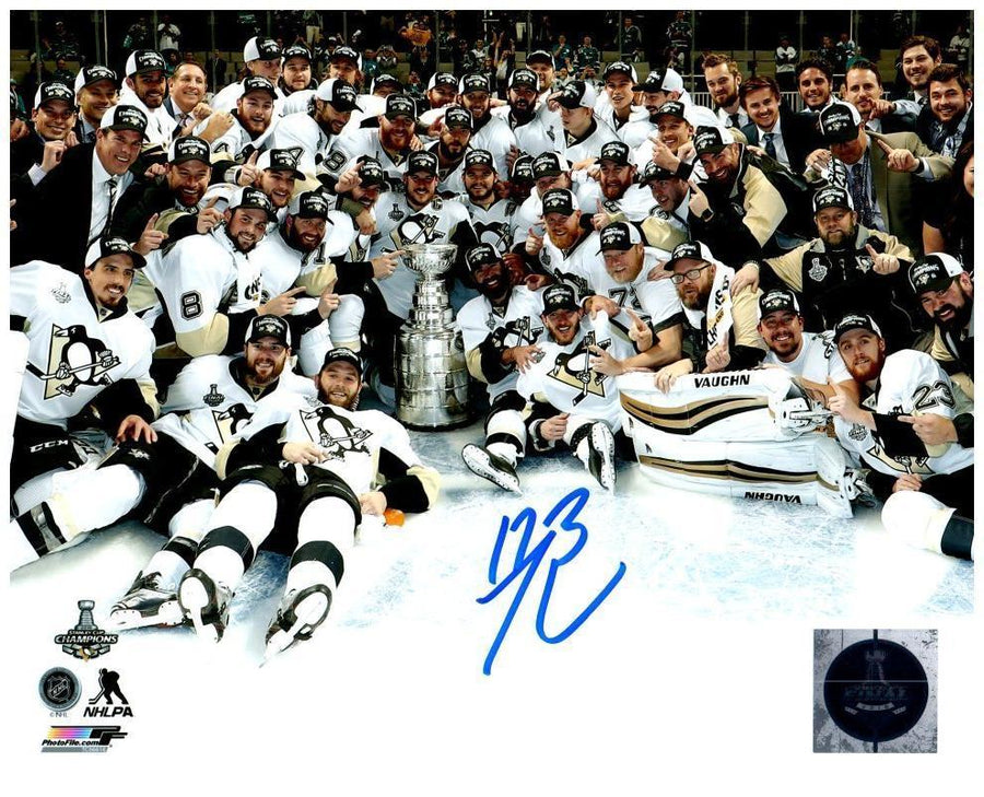 Bryan Rust Autographed Team on Ice 8x10