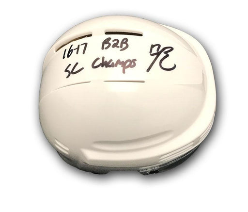 Bryan Rust Autographed White Mini Helmet with 16-17 B2B SC Champs