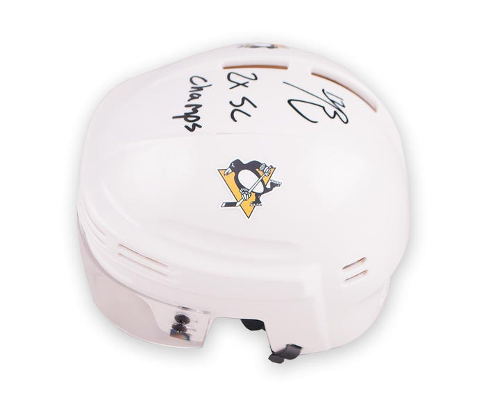 Bryan Rust Autographed White Mini Helmet with 2X SC Champs