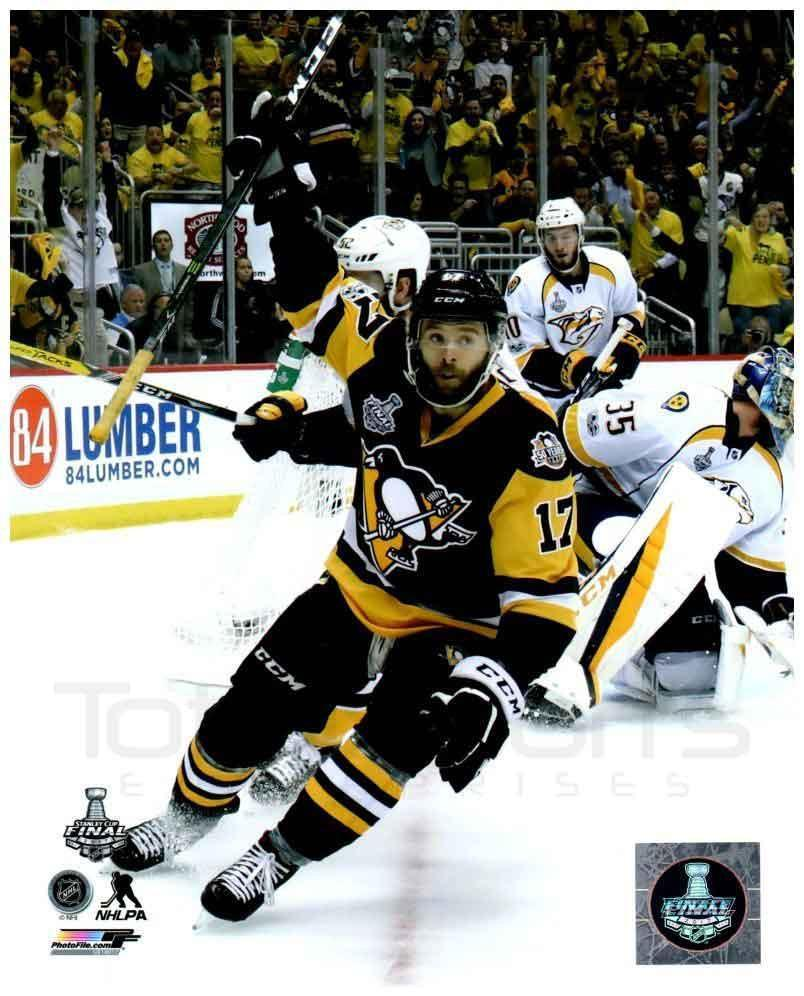 Bryan Rust Celebrating 2017 Stanley Cup Goal 8x10 - Unsigned