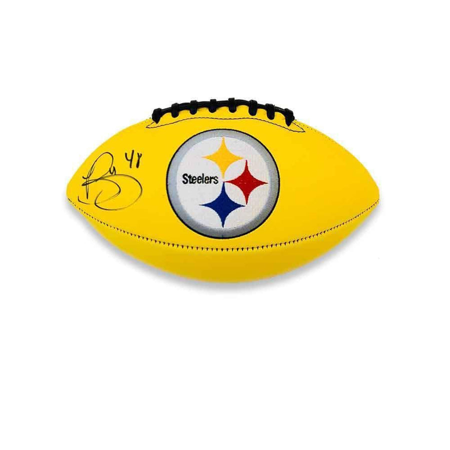 Bud Dupree Autographed Yellow Logo Football