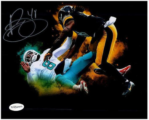 Bud Dupree Signed Hitting Dolphin Custom Explosion 8x10 Photo Default Title