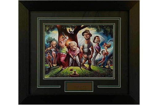 Caddyshack Teeing Off Caricature 11x14 - Professionally Framed