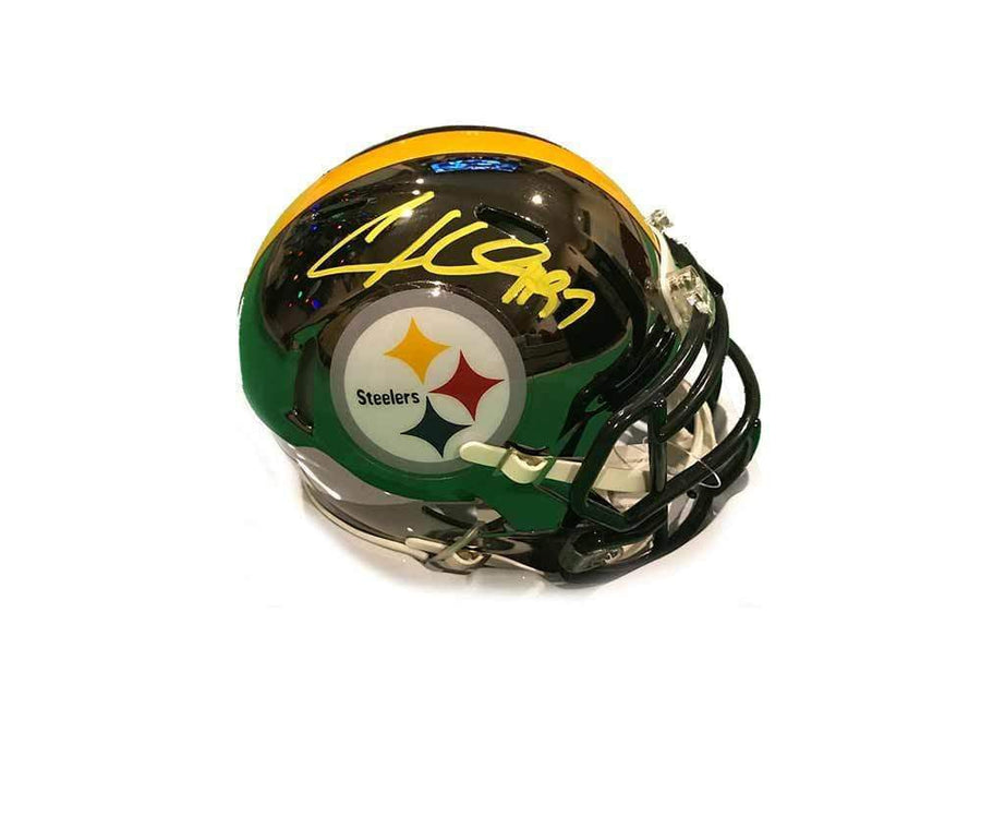 Cameron Heyward Signed Pittsburgh Steelers CHROME Mini Helmet