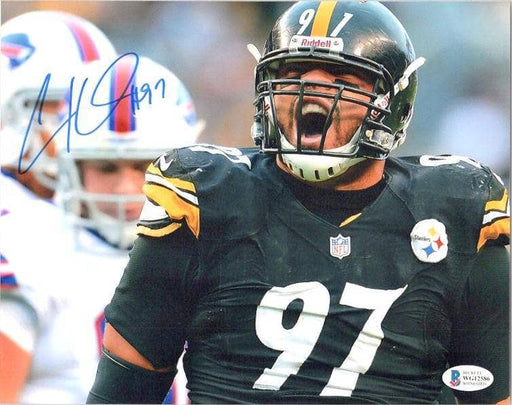 Cameron Heyward Signed Screaming Horizontal 8X10 Photo