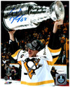 Carl Hagelin Autographed Raising 2017 Stanley Cup 8x10