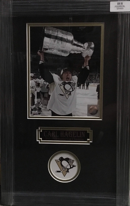 Carl Hagelin Raising the Cup Unsigned 8x10 - Professionally Framed