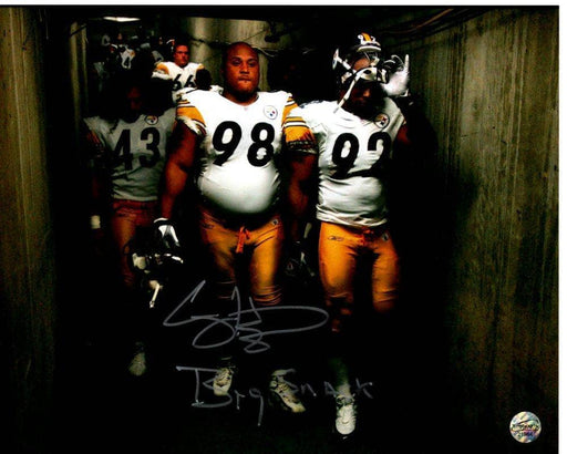 Casey Hampton Signed in In Tunnel 8x10 Photo with Big Snack
