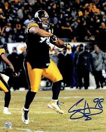 Casey Hampton Signed Stomping in Super Bowl XL 16x20 Photo