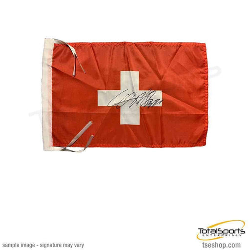 Cesaro Signed Swiss Flag