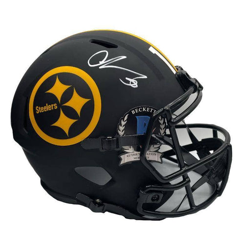 Chase Claypool Signed Pittsburgh Steelers Replica Eclipse Full Size Helmet