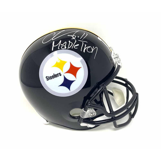 Chase Claypool Signed Pittsburgh Steelers Replica Full Size Helmet with Mapletron