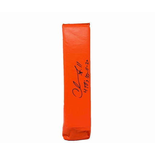 Chase Claypool Signed Replica End Zone Pylon with 4 TD's 10-11-20