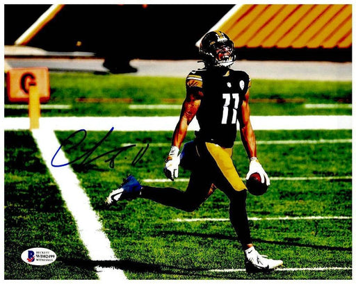 Chase Claypool Signed Running into End Zone 8x10 Photo