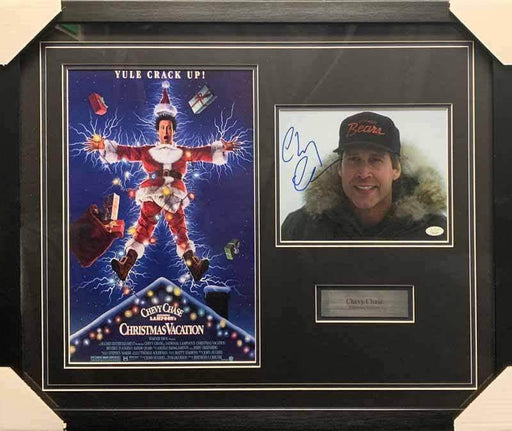 Chevy Chase Signed 8x10 in Bears Cap with Christmas Vacation 11x17 - Professionally Framed
