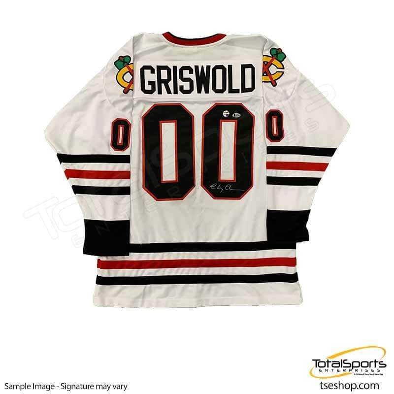 more photos 06ade 1e0c8 Chevy Chase Signed Blackhawks Hockey Jersey