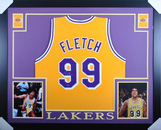 "Chevy Chase Signed ""Fletch"" Lakers Jersey - Professionally Framed"