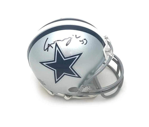 Signed COWBOYS Helmets Chidobe Awuzie Signed Dallas Cowboys Silver Mini Helmet