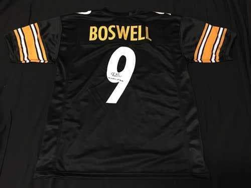 reputable site 304d7 a7be6 Chris Boswell Autographed Black Custom Jersey with Wizard of Boz