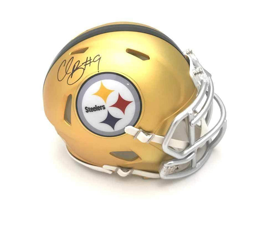Signed STEELERS Mini Helmets Chris Boswell Signed Pittsburgh Steelers BLAZE Mini Helmet