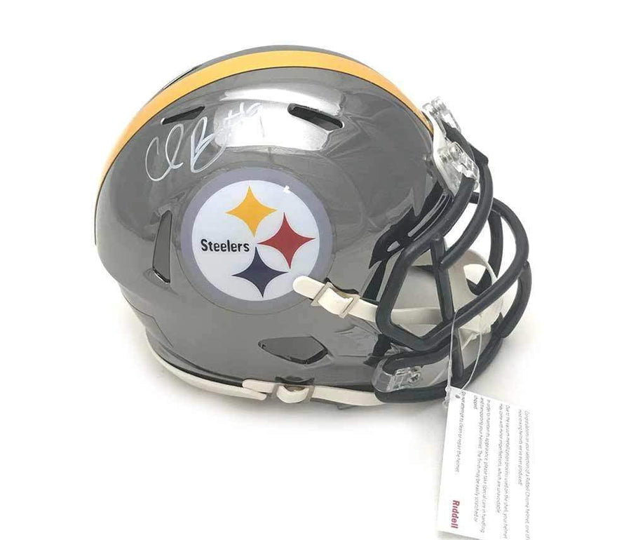 Signed STEELERS Mini Helmets Chris Boswell Signed Pittsburgh Steelers CHROME Mini Helmet