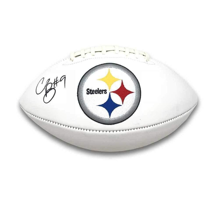 Signed STEELERS Balls Chris Boswell Signed Pittsburgh Steelers White Logo Football