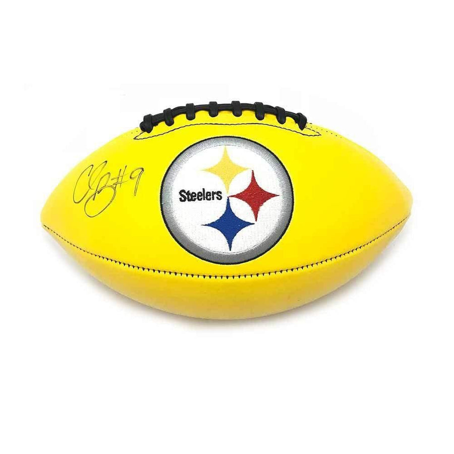 Signed STEELERS Balls Chris Boswell Signed Pittsburgh Steelers Yellow Logo Football