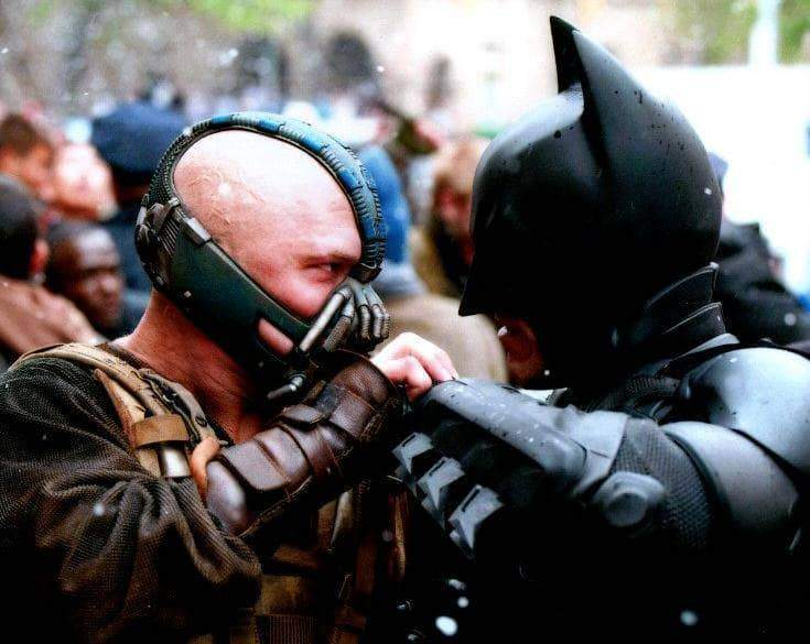 Christian Bale and Tom Hardy The Dark Knight Rises Unsigned 8x10 Photo