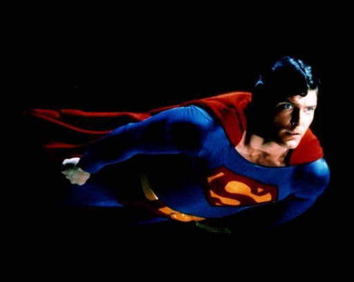Christopher Reeve Superman Flying Unsigned 8x10 Photo