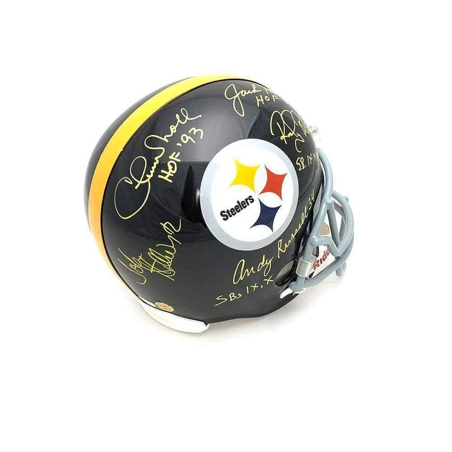 Chuck Noll Multi Signed Pittsburgh Steelers Replica Helmet Default Title