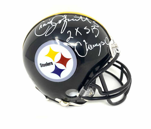 Craig Colquitt Autographed Pittsburgh Steelers Black Mini Helmet with 2X SB Champs