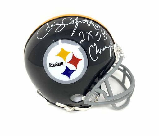 Craig Colquitt Autographed Pittsburgh Steelers TB Mini Helmet with 2X SB Champs