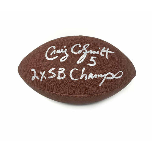Craig Colquitt Autographed Wilson Replica Football with 2X SB Champs