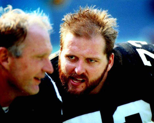 Craig Wolfley Close Up with Mike Webster Unsigned 8x10 Photo