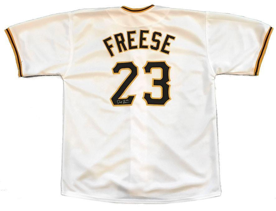 David Freese Autographed Pittsburgh Pirates White Custom Pirates Jersey
