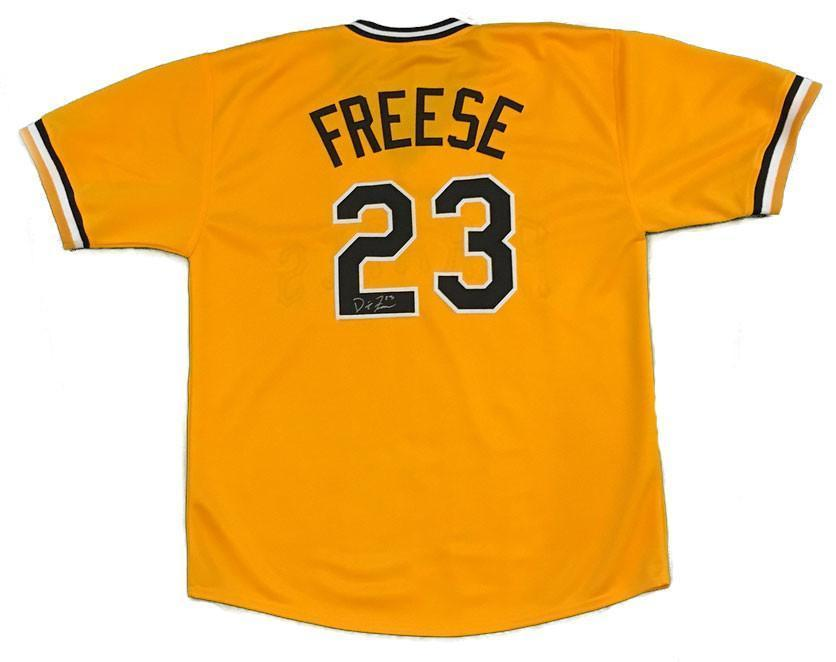 David Freese Autographed Yellow Custom Jersey