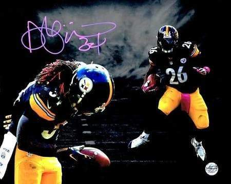 DeAngelo Williams Signed Cloudy Skies 8x10 - Signed in Pink