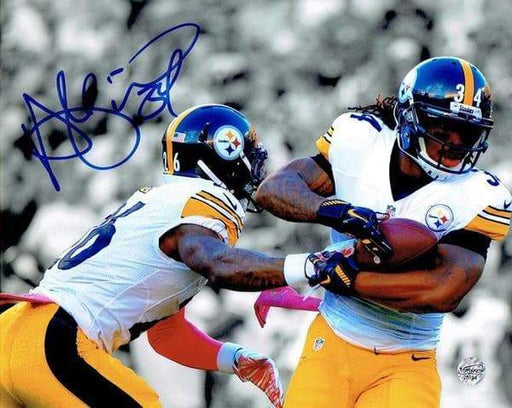 DeAngelo Williams Signed Hand Off from Le'Veon Bell 8x10