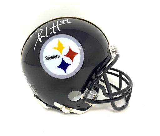 Derek Watt Signed Pittsburgh Steelers Black Mini Helmet