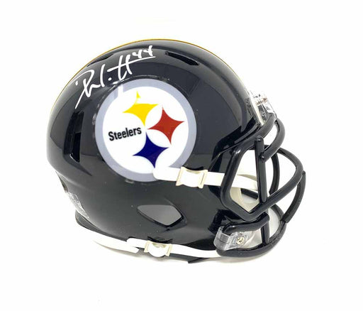 Derek Watt Signed Pittsburgh Steelers Black SPEED Mini Helmet
