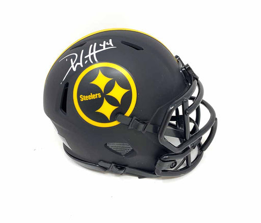Derek Watt Signed Pittsburgh Steelers Eclipse Mini Helmet