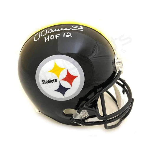 "Dermontti Dawson Signed Pittsburgh Steelers Black Full Size Helmet with ""HOF 12"""