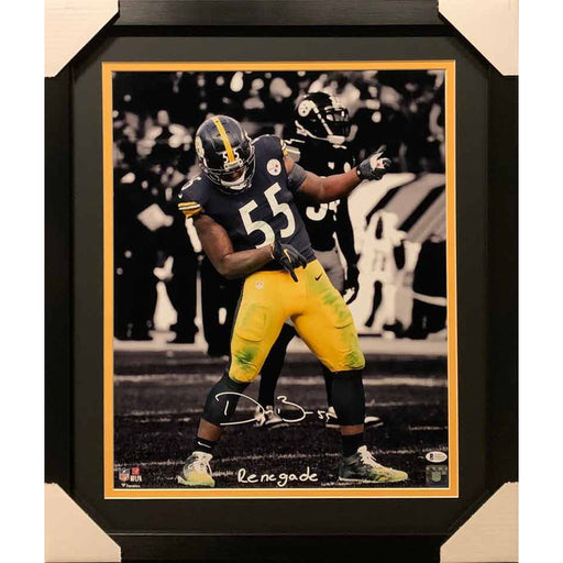 "Devin Bush Signed Air Guitar Spotlight 16X20 Photo with ""Renegade"" - Professionally Framed"