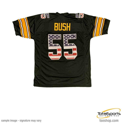 Devin Bush Signed Custom Stars and Stripes Jersey