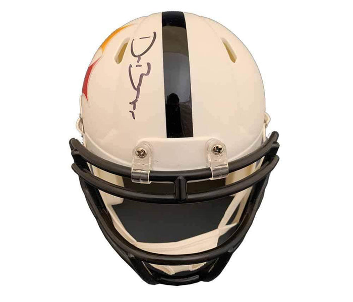 Devin Bush Signed Pittsburgh Steelers AMP Mini Helmet